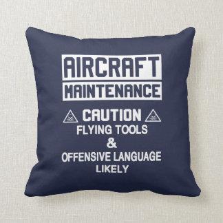 Aircraft Maintenance Safety Throw Pillow