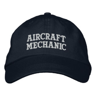 Aircraft Mechanic Embroidered Hat