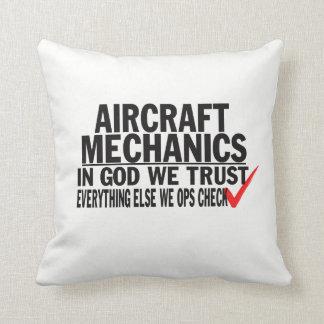 Aircraft Mechanics Throw Pillow