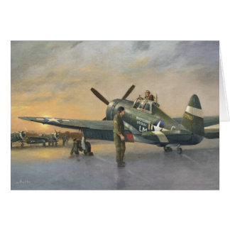 Aircraft-P47 Thunderbolt Greetings Card