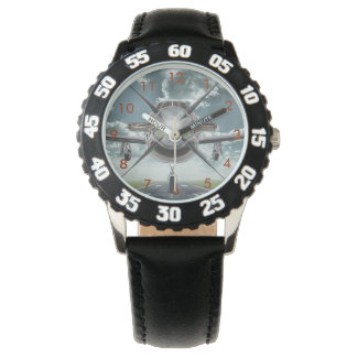Aircraft Picture Wrist Watch