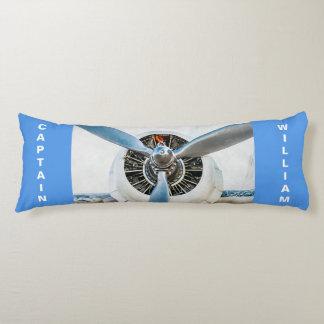 Aircraft propeller funny customizable body pillow
