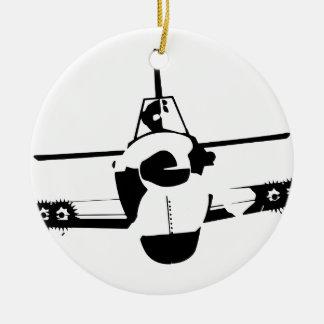Aircraft Round Ceramic Ornament