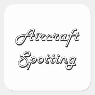 Aircraft Spotting Classic Retro Design Square Sticker