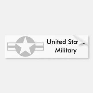 Aircraft Star - Gray - Bumper Sticker