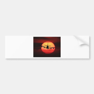 Aircraft Sun Bumper Sticker