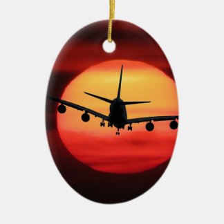Aircraft Sun Ceramic Ornament