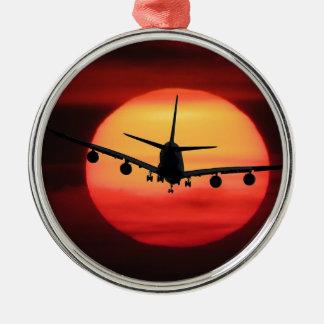 Aircraft Sun Metal Ornament