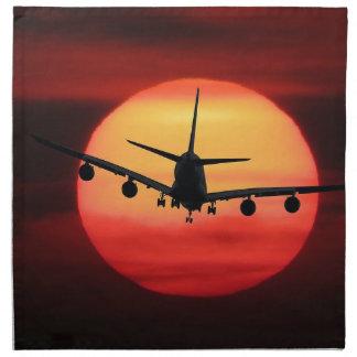 Aircraft Sun Napkin
