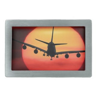 Aircraft Sun Rectangular Belt Buckle