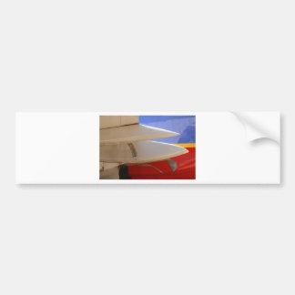 Aircraft Wing Bumper Sticker