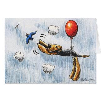 Aire-Ballon Airedale Terrier Carte De Correspondance