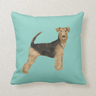 airedale, airedale terrier, love, dog love, dog throw pillow