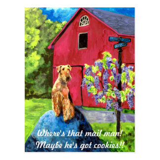 Airedale Barn Postcard
