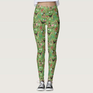 Airedale Christmas leggings