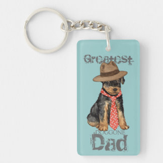 Airedale Dad Double-Sided Rectangular Acrylic Keychain