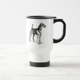 Airedale Dog 15 Oz Stainless Steel Travel Mug