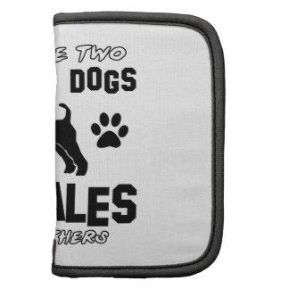 airedale dog designs folio planner