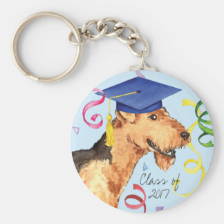 Airedale Graduate Keychain