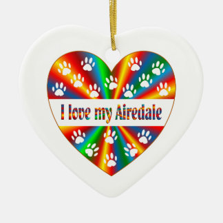 Airedale Love Ceramic Ornament