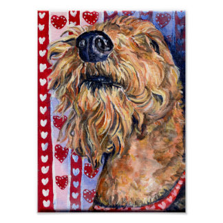 Airedale Love Poster