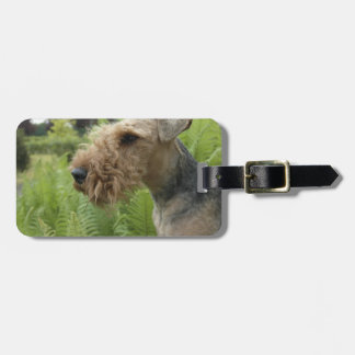 Airedale Luggage Tag