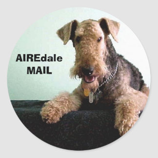 AIREdale MAIL Round Stickers