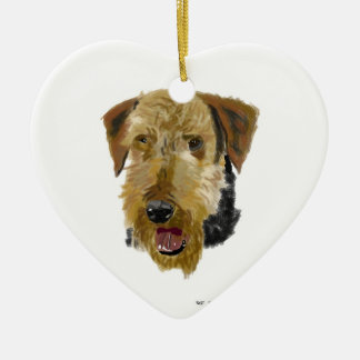 Airedale ornament