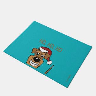 Airedale Santa Doormat
