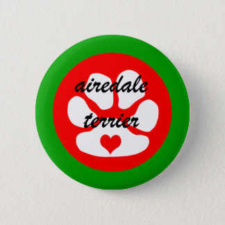 airedale terier 2 inch round button
