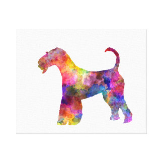 Airedale Terrier 01 in watercolor 2 Canvas Print