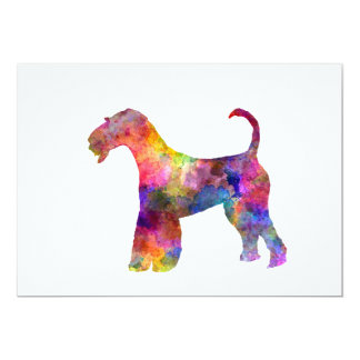 Airedale Terrier 01 in watercolor 2 Card