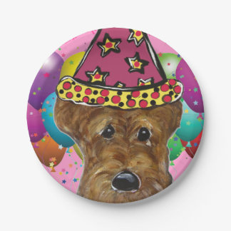 AIREDALE TERRIER 7 INCH PAPER PLATE