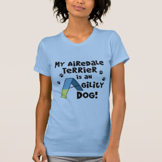 Airedale Terrier Agility Dog Ladies T-Shirt