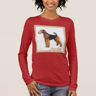Airedale Terrier Art Apparel Long Sleeve T-Shirt