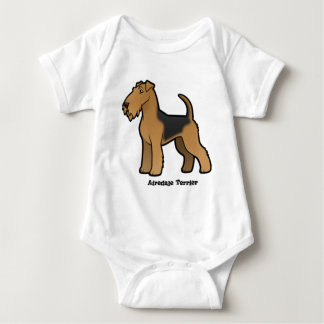 airedale terrier baby bodysuit