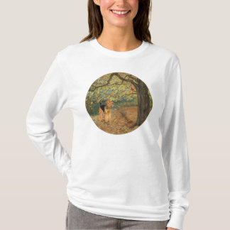 Airedale Terrier Birdwatching T-Shirt