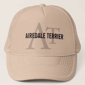 Airedale Terrier Breed Monogram Trucker Hat