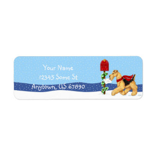 Airedale Terrier Christmas Dale Mail Labels