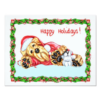Airedale Terrier Christmas Waiting for Santa Card