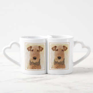 Airedale Terrier Coffee Mug Set