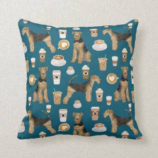 Airedale Terrier Coffee print pillow