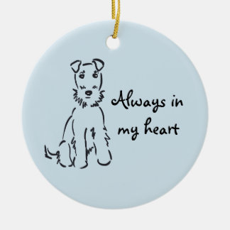 Airedale Terrier Customizable Dog Memory Keepsake Ceramic Ornament