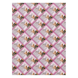 Airedale Terrier Design -  Auntie poem Tablecloth