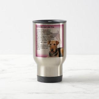 Airedale Terrier Design -  Auntie poem Travel Mug
