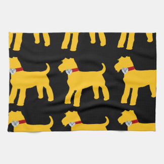 AIREDALE TERRIER DESIGN KITCHEN TOWEL