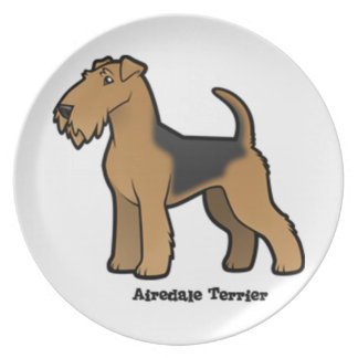 airedale terrier dinner plates