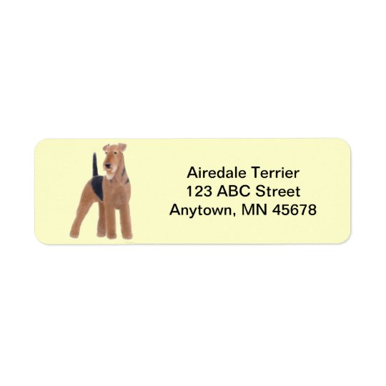 Airedale Terrier Dog Customizable