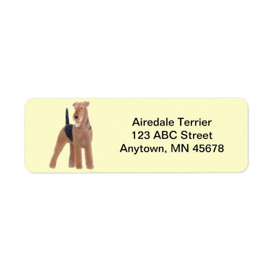 Airedale Terrier Dog Customizable Return Address Label