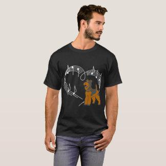 Airedale Terrier Dog Love Rhythm Heartbeats Tshirt